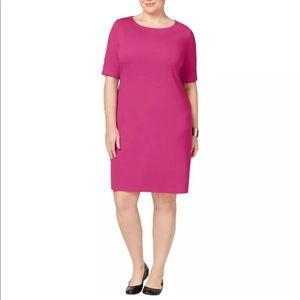 NWT Karen Scott Elbow Sleeve Solid Dress